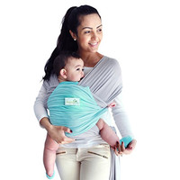 Breathable Modal Baby Wrap | 50% More BREATHABLE 2x Softer Than Cotton Carrier Wraps | Cool Light Stretchy Comfy Sling Wrap w Pocket | Nursing and Sleeping | Unique Baby Shower Gift (Grey/Blue)