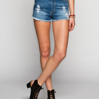 Others Follow Ion Womens Highwaisted Denim Shorts Denim  In Sizes