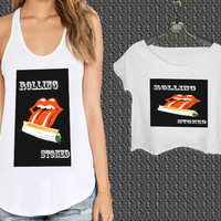 FUNNY ROLLING STONED QUOTE WEED For Woman Tank Top , Man Tank Top / Crop Shirt, Sexy Shirt,Cropped Shirt,Crop Tshirt Women,Crop Shirt Women S, M, L, XL, 2XL **