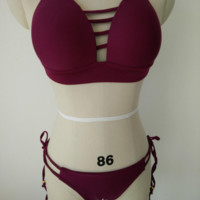 Chest hollow fashion sexy  two piece bikini high  neck swimsuit