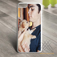 Dylan O Brien with dog case for iPhone, iPod and iPad