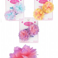 2pc Snap Clip with 2 Tone Flower
