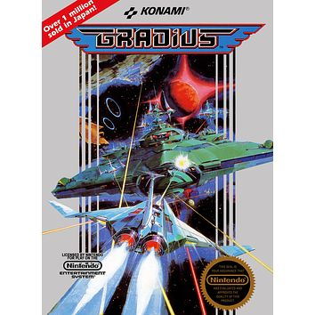 Retro Gradius Game Poster//NES Game Poster//Video Game Poster//Vintage Game Cover Reprint