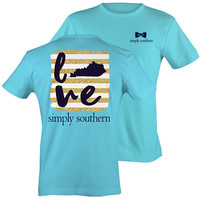 Simply Southern Kentucky KY Preppy State Love Pattern T-Shirt