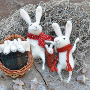 Bunny Sweet Family - SPRING SPECIAL- easter inspiration - made to order