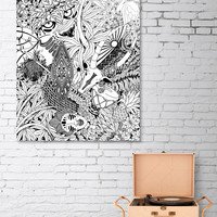 «Africa Tribal Doodle Art», Numbered Edition Acrylic Glass Print by BluedarkArt Lem - From 65€ - Curioos