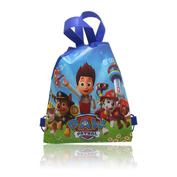 1pcs Novelty Hot Cartoon Drawstring Backpack Bags 34*27CM School Furniture Non-Woven Fabric Party & Candy Bags Kids Party Favors