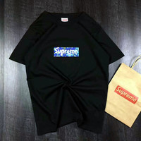 """""""Supreme""""Unisex Print Casual Short Sleeve Shirt Top Tee Blouse G-A-GHSY-1"""