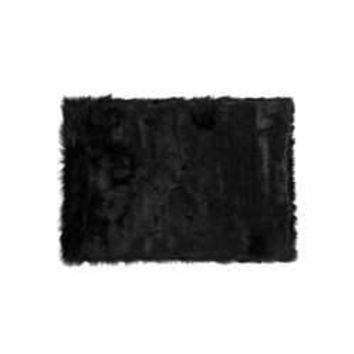 Hudson Faux Fur 2' X 3' Rectangular Rug - Black