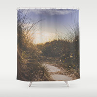 You make me smile Shower Curtain by HappyMelvin