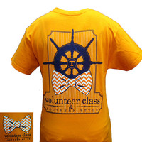 Tennessee Vols Volunteer Class Southern Style Bow Girlie Bright T Shirt
