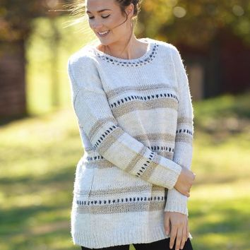 JACK by BB Dakota Spice Of Life Stripe Sweater