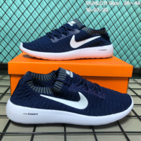 KUYOU N140 Nike Air Zoom Pegasus 35 Light Flyknit Woven Shoes Sneaker Dark Blue