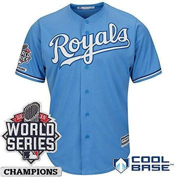 Kansas City Royals Mlb Men's Cool Base Alternate 2015 World Series Champions Patch Jersey (small)