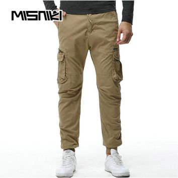 Cotton Cargo Pants Men Ankle Banded Casual Slim Jogger Pants Men Pantaloon Hombre