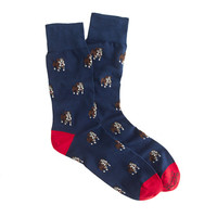 J.Crew Mens Corgi Lightweight Pattern Socks