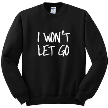 "Justin Bieber ""Cold Water / I Won't Let Go"" Crewneck Sweatshirt"