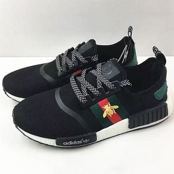 Adidas NMD individuality Sequins Fashion Trending Leisure Running Sports Shoes Bee