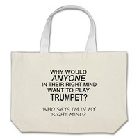 Right Mind Trumpet Canvas Bags