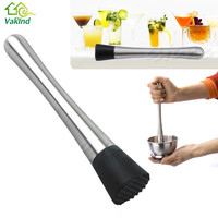 New Stainless steel lemon metal masher Stir bar bartenders tools masher Cocktail Muddler