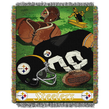 Pittsburgh Steelers NFL Woven Tapestry Throw (Vintage Series) (48x60)