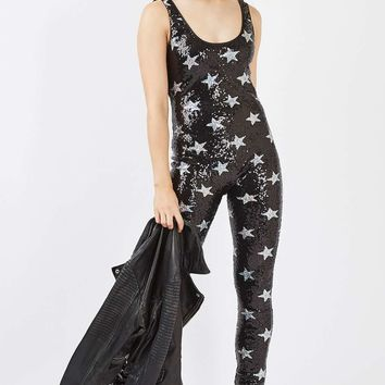 **Star Sequin Catsuit by Jaded London - New In