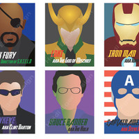 "Avengers set of 3 YOUR CHOICE 4""x6"" Prints"
