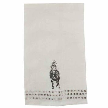 Man o' War Embroidered Linen Hand Towel