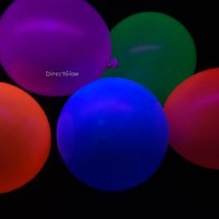 Set of 25 Assorted 11 inch Blacklight Reactive Latex Balloons