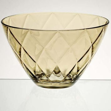 "Majestic Gifts E62736-D Quality Glass Bowl, 9.8""D, amber"
