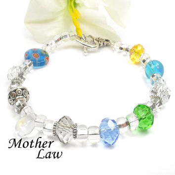 Special Gift for Mother in Law: Poem Bracelet For Birthday, Christmas F104