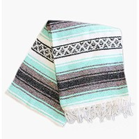 Authentic Mexican Yoga Blanket - Mint Green