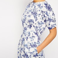ASOS PETITE Wiggle Dress in Summer Days Print
