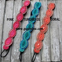 Beaded Headbands in Four Color Options