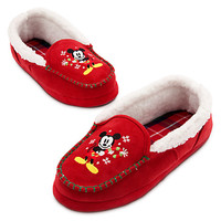 Mickey Mouse Holiday Slippers for Adults