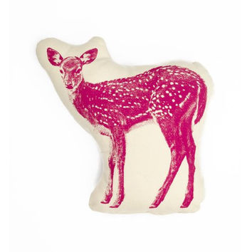 Fawn Pillow in Hot Pink