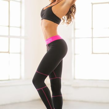 Bombshell Sportswear Black Athlete Leggings