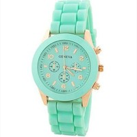 Mint Color Silicone Watch KCZ007 Mint Green GHN859 from topsales