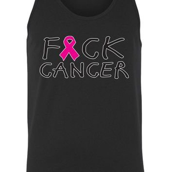 Men's Tank Top Breast Cancer Awareness F*&ck Cancer