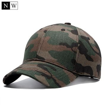 High Quality Camo Baseball Cap Men Camouflage Tactical Cap Bone Masculino Dad Hats For Men Bone Beisebol Trucker Cap
