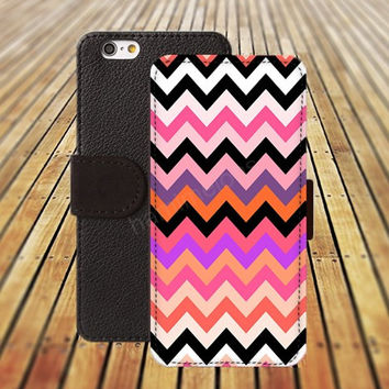 Chevron colorful Case iphone 5/ 5s iphone 4/ 4s iPhone 6 6 Plus iphone 5C Wallet Case , iPhone 5 Case, Cover, Cases colorful pattern L003