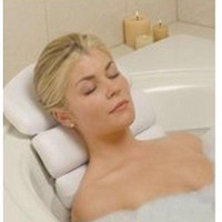 Spa Bath Pillow Suction Comfortable Neck Support for Hot Tub Bath Free