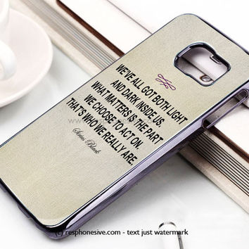 Harry Potter - Albus Dumbledore Quote Samsung Galaxy S6 and S6 Edge Case