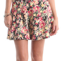 Nollie Yellow Floral Skater Skirt at PacSun.com