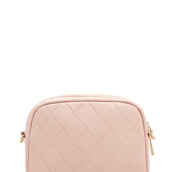 Faux Leather Quilted Crossbody