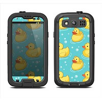 The Cute Rubber Duckees Samsung Galaxy S3 LifeProof Fre Case Skin Set
