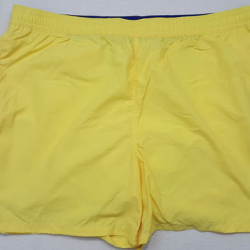 Polo Ralph Lauren 4XB Mens Swim Trunks Briefs Yellow Shorts 4XL 4X