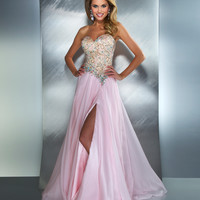 SALE! Mac Duggal 2013 Prom Dresses - Ice Pink Strapless Chiffon Gown