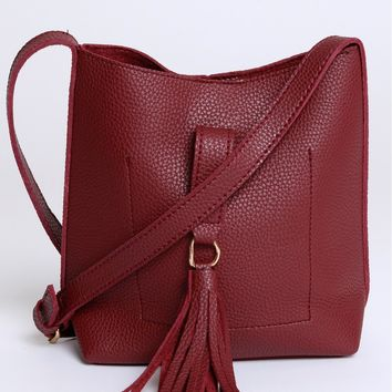 Mini Trip Crossbody Maroon