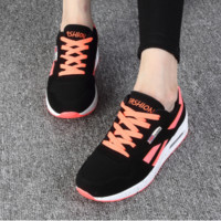 Fashion Casual Multicolor Letter Thick Bottom Air Cushion Sneakers Women Running Shoes